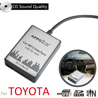 Car Audio Digital Music Changer Car Audio Usb Sd Aux Mp3 Adapter