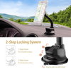 APPS2Car Customized Magnetic Surface Long Arm Suction Cup Dashboard Car Mount Holder Universal Car Phone Holder for 4-6'' Cell Phones